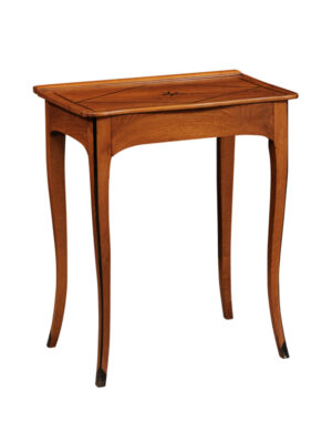 Directoire Walnut Side Table with Inlay
