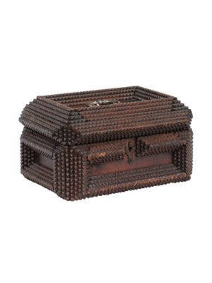 Early 20th Century American Tramp Art Box