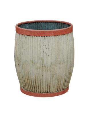 English Painted Rain Barrel