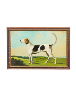 Framed Oil on Canvas Dog Painting