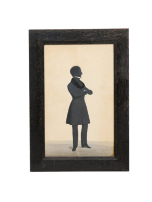 Framed Watercolor Silhouette of Man