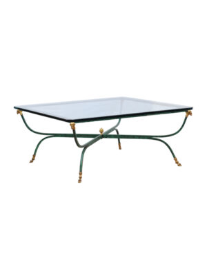 Green Painted Jansen Style Coffee Table