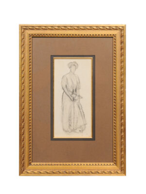 Lawton S. Parker Pencil Drawing of Woman