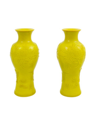 Pair Peking Glass Vases