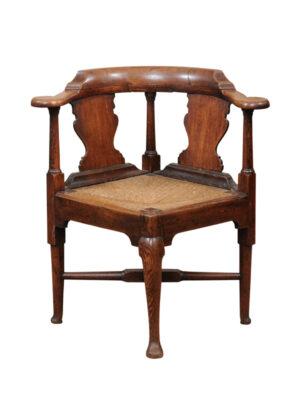 18th Century English Oak Corner Chair18th Century English Oak Corner Chair