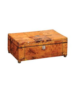 19th C. Tortoiseshell Sewing Box
