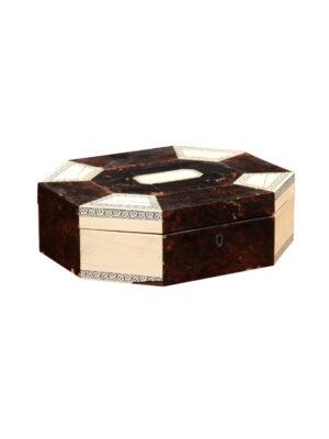 19th Century Bone & Tortoiseshell Sewing Box