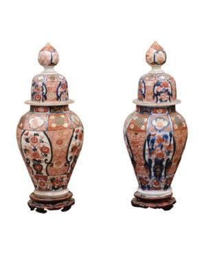 19th Century Chinese Export Imari Lidded Jars