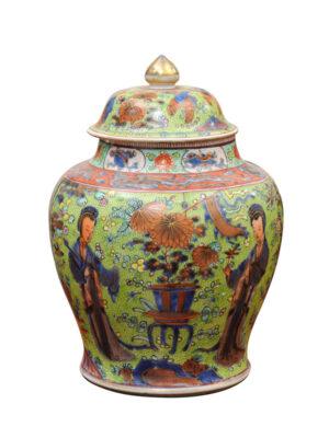 19th Century Clobberware Ginger Jar