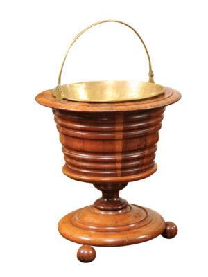 19th Century Dutch Fruitwood Peat Bucket