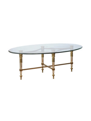 20th C. Brass & Steel Coffee Table