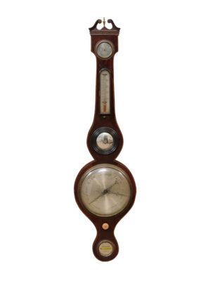 English Mahogany Barometer