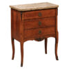 French Inlaid Petite Commode with Stone Top