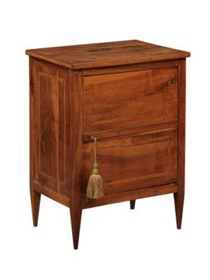 Neoclassical Period Inlaid Walnut Cabinet