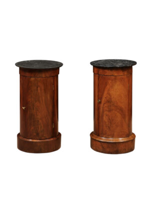 Pair 19th C. French Mahogany Bedside Commodes