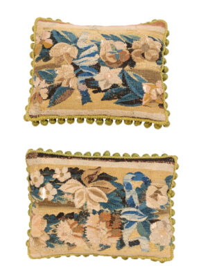 Pair of Pillows w 18th C Tapestry Fragments