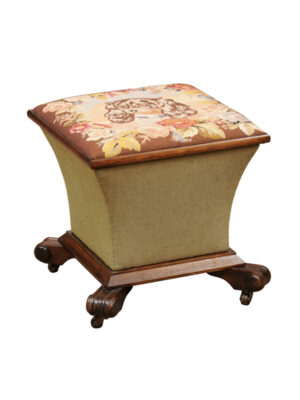 Regency Style Lift Top Stool with Needlepoint