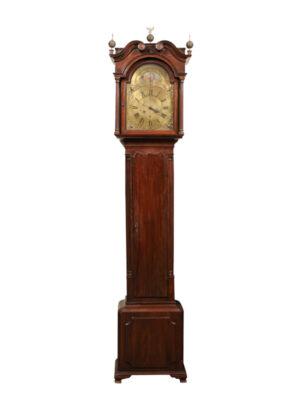 18th C Georgian Tallcase Clock with Brass Face