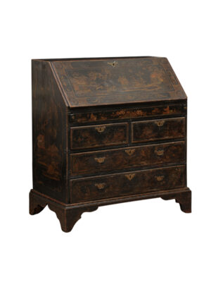 18th C. English Chinoiserie Decorated Slant Front Desk