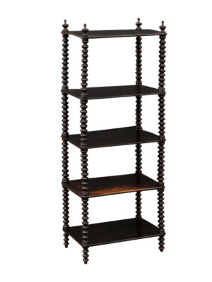 19th C. English Black Painted Etagere / What Not