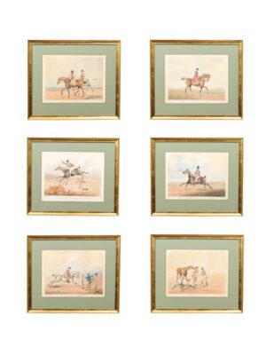 19th C. English Framed Hunt Scene Engravings