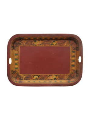 19th Century American Red Toleware Tray
