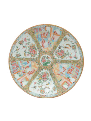 19th Century Chinese Export Rose Medallion Charger