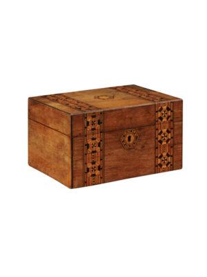 19th Century English Tunbridge Jewelry Box
