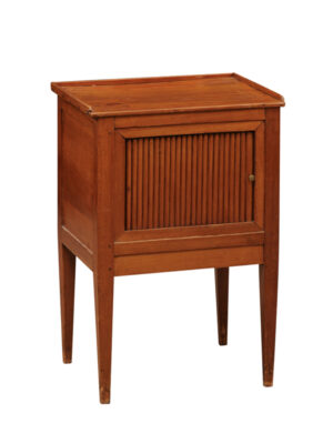 19th Century French Fruitwood Chevet with Tamboor