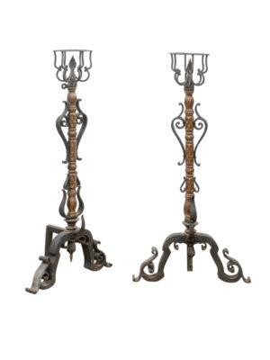 19th Century French Iron Andirons