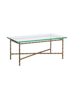 Brass Bamboo Style Coffee Table