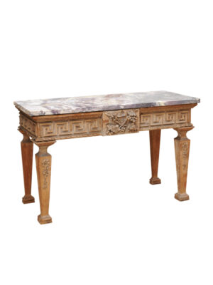 Georgian Pine Console with Marble Top