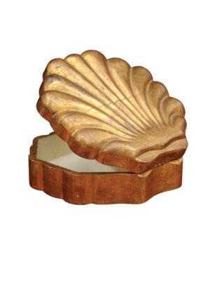 Italian Giltwood Shell Shaped Box