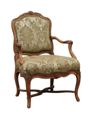 Louis XV Period Walnut Fauteuil