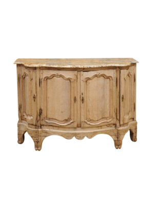 Louis XV Style Bleached Oak Buffet with Stone Top