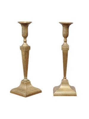 Pair 19th C. Georgian Brass Candlesticks