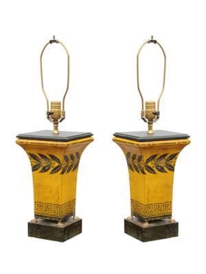 Pair Directoire Tole Lamps