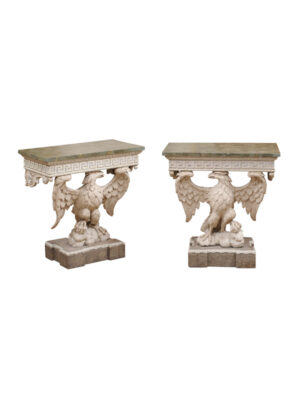 Pair of Wall Mounted Eagle Console Tables